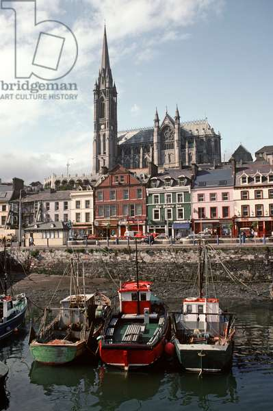Cobh Harbour, formerly known as Queenstown, County Cork, referred to in James Joyce Ulysses, Ireland (photo)