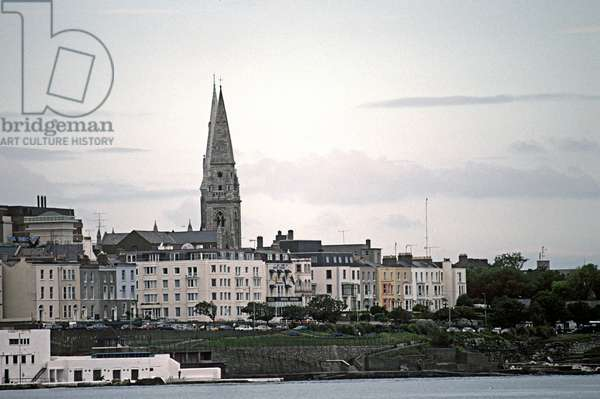 Dun Laoghaire town, referred to in James Joyce 'Ulysses', Dublin, Ireland (photo)