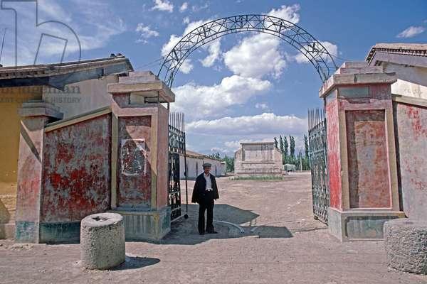 Courtyard in Turpan, Xinjiang Province, China, 1985 (photo)