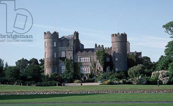 Malahide Castle, County Dublin, referred to in James Joyce 'Ulysses', Ireland (photo)