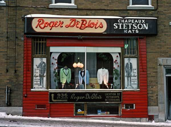 French Canadian mens clothes shop, Montreal, Quebec Province, Canada (photo)