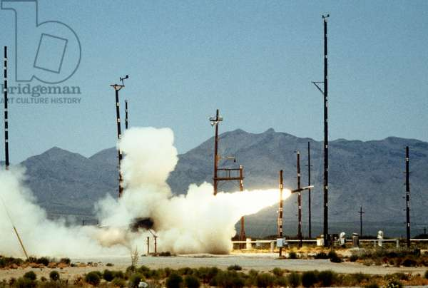 Multiple Rocket Launcher Test, United States Army, Mcgregor Firing Range, New Mexico, USA, 1983 (photo)