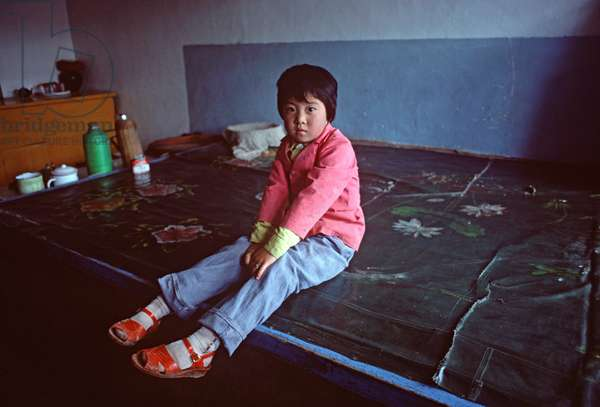 Inhabitants of village in Inner Mongolia grasslands, China, 1985 (photo)