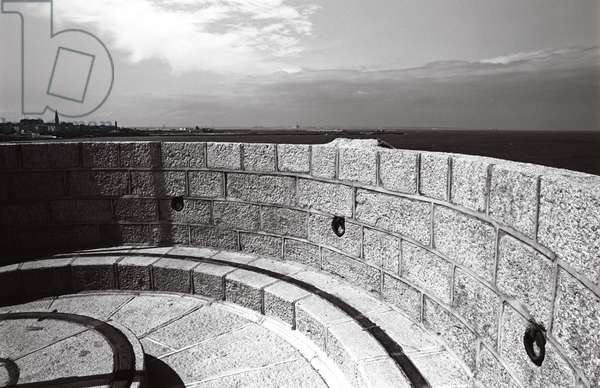 James Joyce Martello Tower and Museum ramparts, Sandycove, Dublin, Ireland,  (photo)