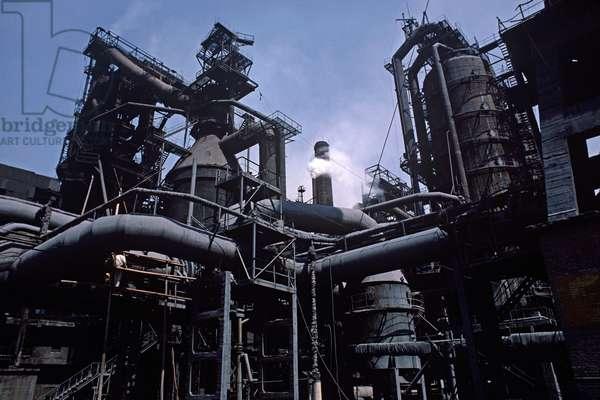 Baotou Steel Works, Baotou, Inner Mongolia, China, 1985 (photo)