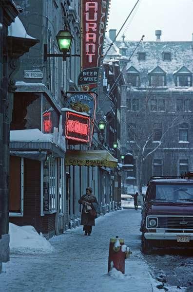 Quebec City in winter, Quebec Province, Canada (photo)
