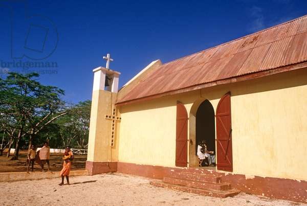 Local church at Berenty, Madagascar, East Africa, Africa, 1980s (photo)