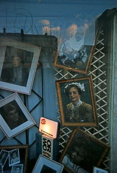 Sarajevo photographers studio window display in former Yugoslavia