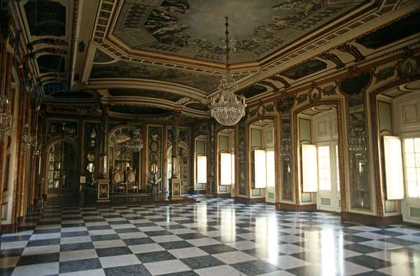 Rococo styled Queluz Palace, Lisbon, Portugal (photo)