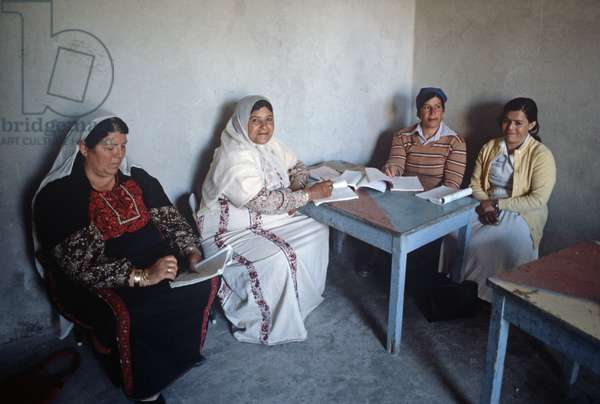Palestinian literary classes in West Bank, East Jerusalem, Israeli, Palestinian Authority Control, East Jerusalem (photo)