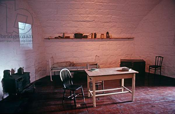 James Joyce's apartment within the James Joyce Martello Tower and Museum, Sandycove, Dublin, Ireland (photo)