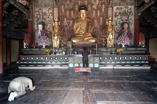 Sokkuram Temple part of the Bulguksa Temple complex, Head of the Jogye order of Korean Buddhism, South Korea, Asia (photo)
