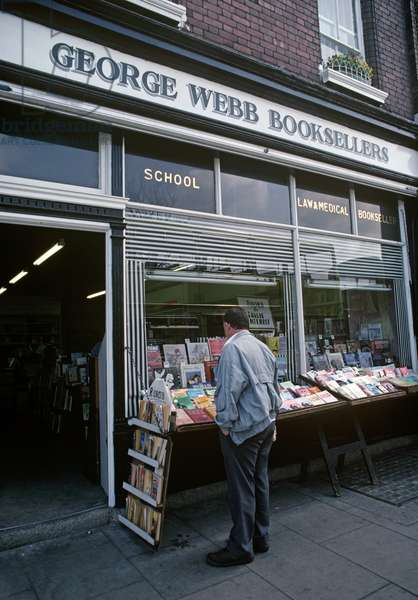 George Webb, bookseller frequented by James Joyce, Dublin, Ireland (photo)