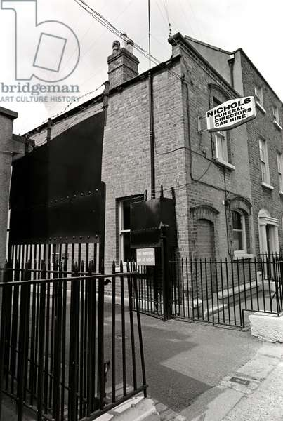 Nichols the undertakers, Dublin, referred to in James Joyce 'Ulysses', Ireland (photo)