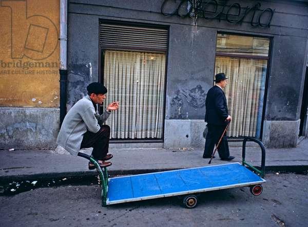 Street scene in Sarayevo, former Yugoslavia