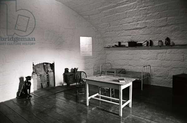 James Joyce apartment within the James Joyce Martello Tower and Museum, Sandycove, Dublin, Ireland (photo)