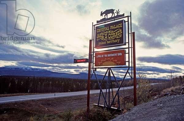 Jake's Corner motel and bar, Alaska Highway, Yukon Territories, Canada (photo)