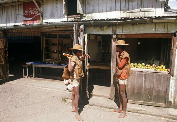 Store with Coca Cola sign, Berenty, Madagascar, East Africa, Africa, 1980s (photo)