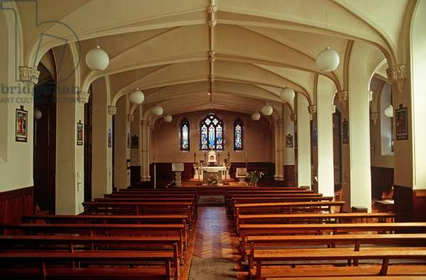 Belvedere College Chapel, a private Jesuit Secondary School for Boys which James Joyce attended from 1893-98, Dublin, Ireland (photo)