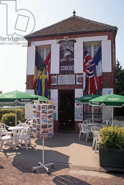 Pegasus Cafe, next to the Pegasus Bridge, Normandy, France (photo)
