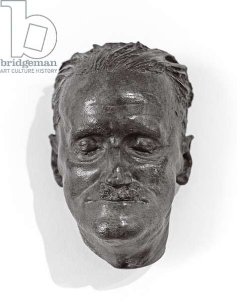 One of two James Joyce deathmasks, made in January 1941 by Swiss sculptor Paul Speck, James Joyce Martello Tower and Museum, Sandycove, Dublin, Ireland (photo)