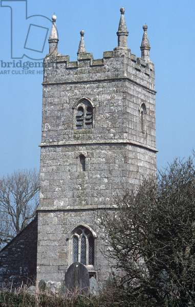 15th Century Church of England, St Endellion Church in an area of Area of Outstanding Beauty, 'AONB', North Cornwall, UK (photo)