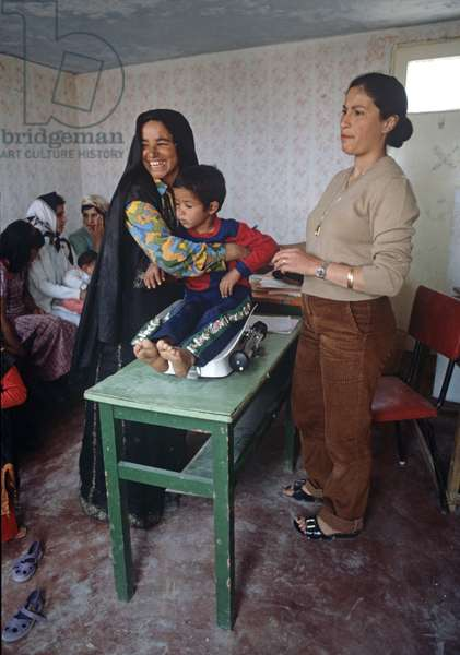 Palestinian Bedouin baby clinic in the West Bank, East Jerusalem, Israeli, Palestinian Authority Control, East Jerusalem (photo)