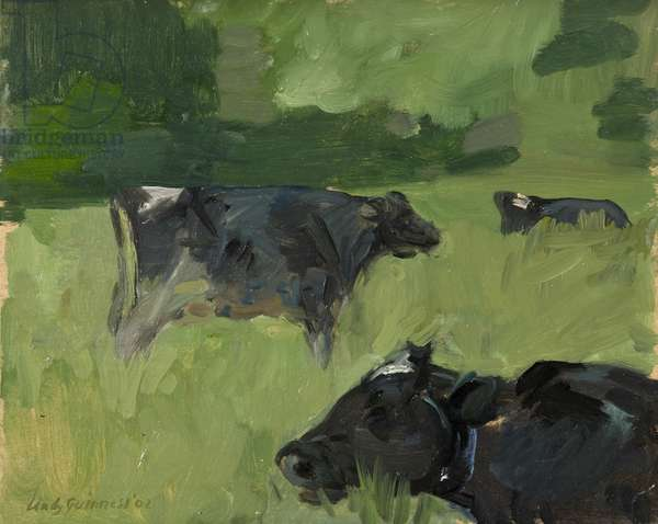 Chewing the Cud, (oil on board)
