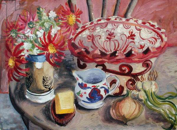 Still Life with Onions, 1946 (oil on paper)