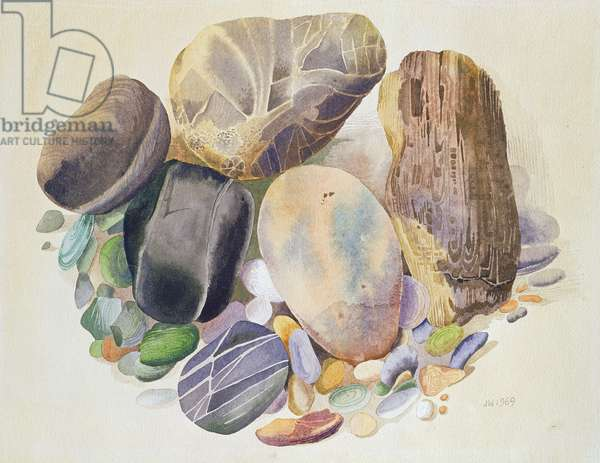 Polished Stones, 1969 (w/c on paper)