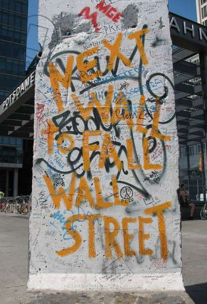Recycled part of the Berlin Wall, Potsdamer Platz (photo)