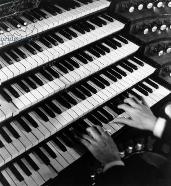 Hands of Louis Vierne on the Organ of Notre Dame\n1935