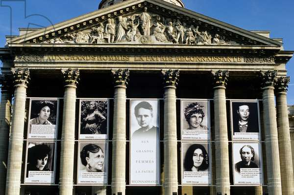 Pantheon, Paris - Celebration of Women's Day, 2002 (photo)