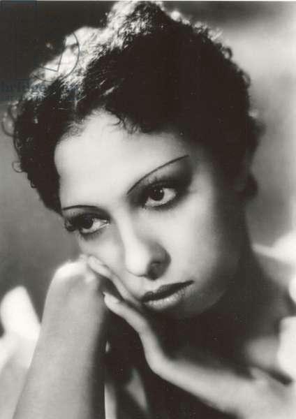 "Portrait of Josephine Baker from the French film ""Zouzou"", 1934 (b/w photo)"