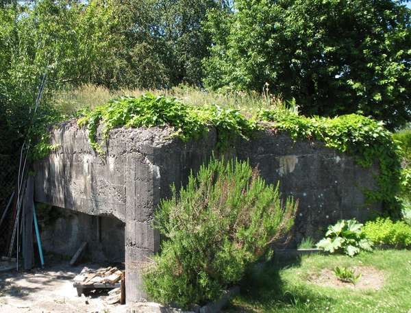 Remains of a Nazi bunker, Robertsau, Strasbourg, France (photo)