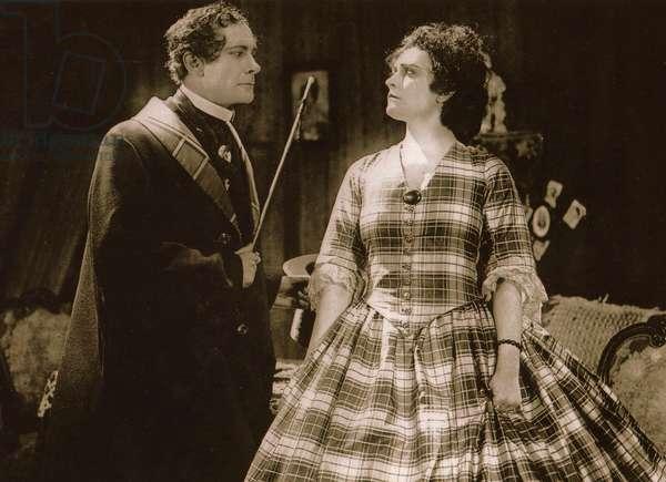 Alfred Abel und Paola Negri in 'Die Flamme', 1922 (b/w photo)