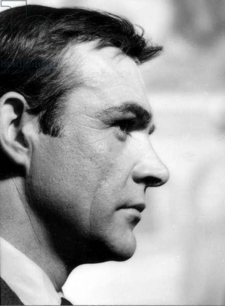 Portrait of Sean Connery, 1964 (b/w photo)