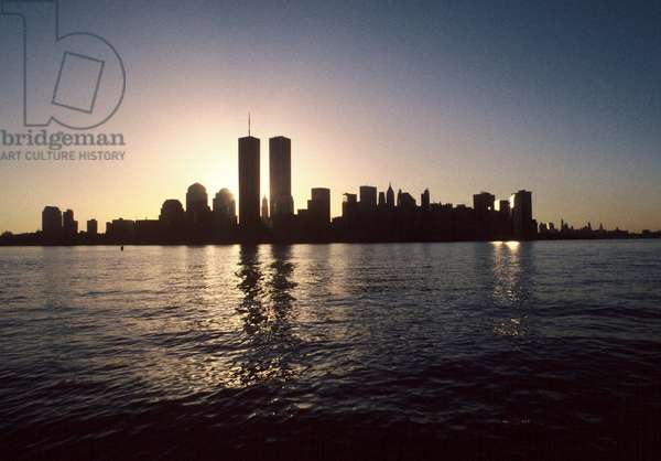 World Trade Center's Twin Towers in NYC, 2000