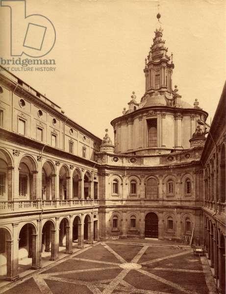 University La Sapienza and Sant'Ivo Alla Sapienza, Rome (albumen print)