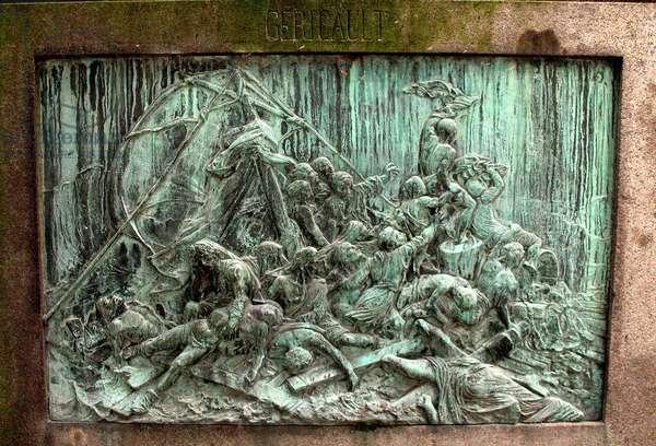 Detail of the tomb of Théodore Gericault, Le Père Lachaise, Paris (photo)