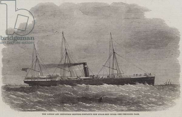 The London and Edinburgh Shipping Company's New Steam-Ship Oscar (engraving)