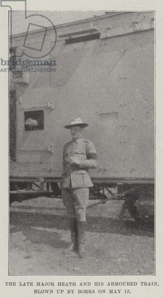 The late Major Heath and his Armoured Train, blown up by Boers on 17 May (b/w photo)