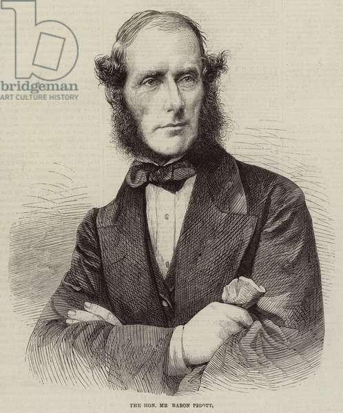 The Honourable Mr Baron Pigott (engraving)