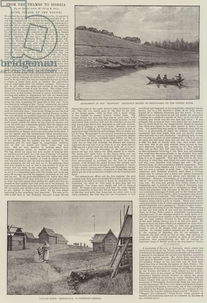 From the Thames to Siberia (litho)