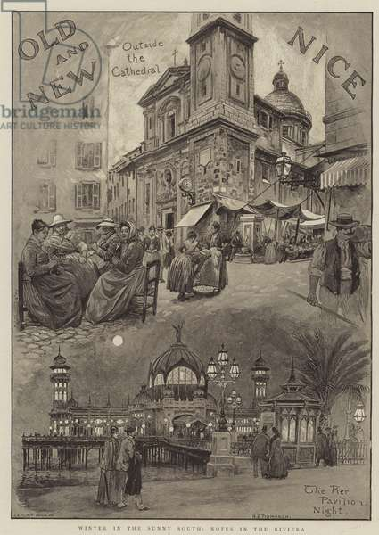 Winter in the Sunny South, Notes in the Riviera (engraving)