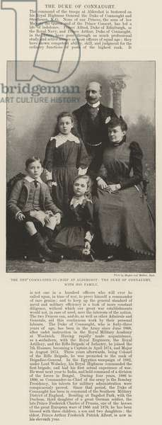 The New Commander-in-Chief at Aldershot, the Duke of Connaught, with his Family (b/w photo)