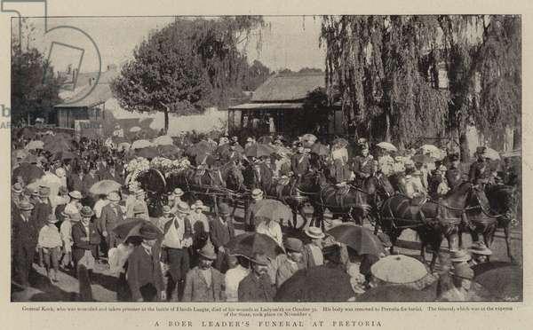 A Boer Leader's Funeral at Pretoria (b/w photo)