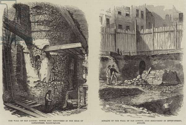 Remains of the Wall of Old London (engraving)