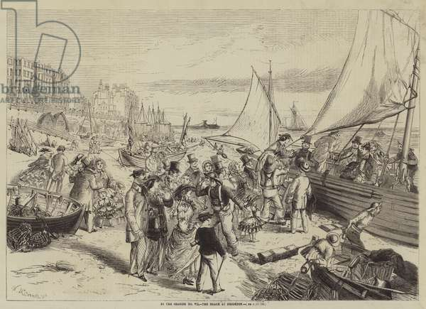 By the Seaside, the Beach at Brighton (engraving)
