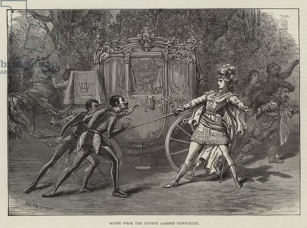 Scene from the Covent Garden Pantomime (engraving)